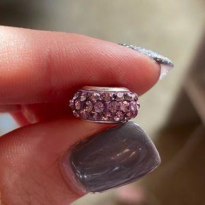 Purple Crystal Pandora Charm